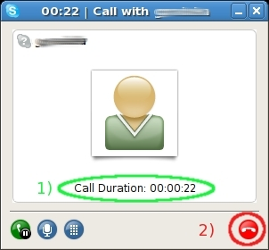 To quit your call, you can click on the red phone icon too.