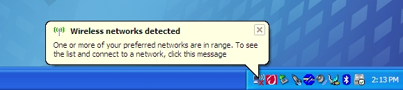Click on the Wireless Network icon...